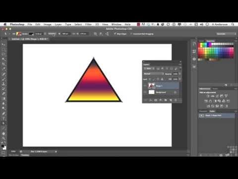 Adobe Photoshop CS6 Tutorial  Vector Shapes