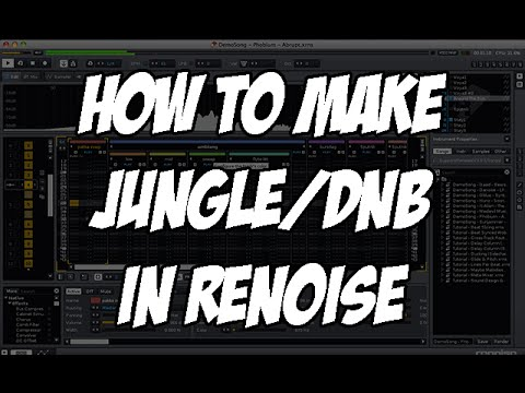Music Production Tutorial - How to make a Jungle D&B beat in Renoise
