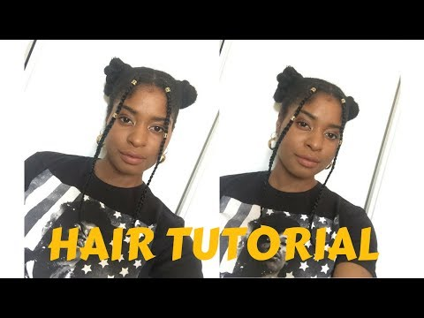 TUTORIAL | EASY SPACE BUNS WITH BRAIDS
