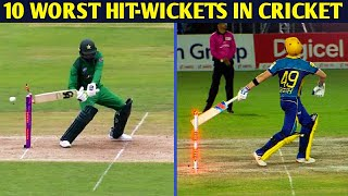 Top 10 Worst Hit-Wickets in Cricket History || Cricket Addict ||