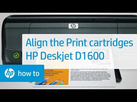 Align the Print Cartridges - HP Deskjet D1600
