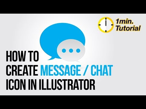 Illustrator Tutorial - How to create a Message / Chat icon in 1 minute