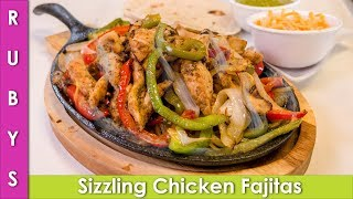 Sizzling Mexican Chicken Fajitas & Jalapeno Sauce Recipe In Urdu Hindi - RKK