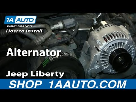 How To Install Replace Remove Alternator 2004-07 Jeep Liberty