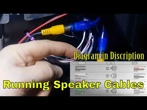 Running Speakers Wires for Component Speakers Ford Mondeo MK3 (project St220)
