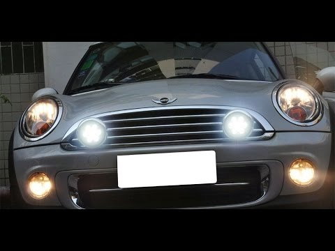 How To Wire MINI Cooper LED Halo Ring Rally Driving Lights