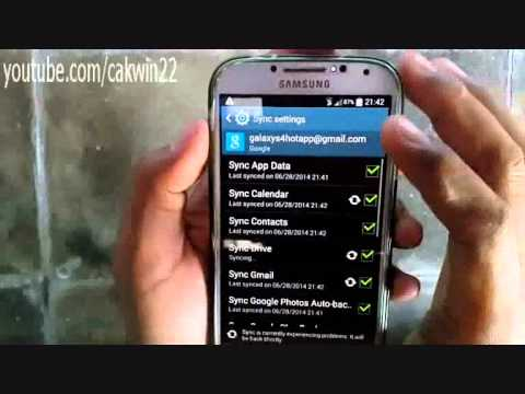 Samsung Galaxy S4: How to logout of gmail (Android Kitkat)