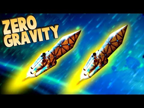 ZERO GRAVITY!  Forts Rocket Bases in SPACE!  (Forts Multiplayer Gameplay)
