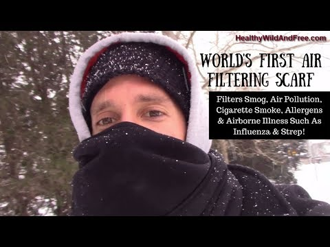 The World's First Air Filtering Scarf (Bioscarf Filters Smog, Allergens, Smoke, Pollution)