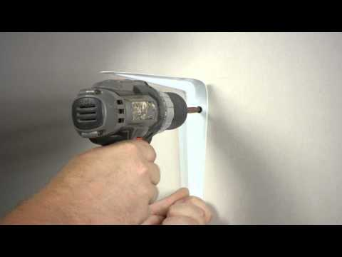 How to Install a Heavy Shelf With Brackets to Drywall : Wall Repair