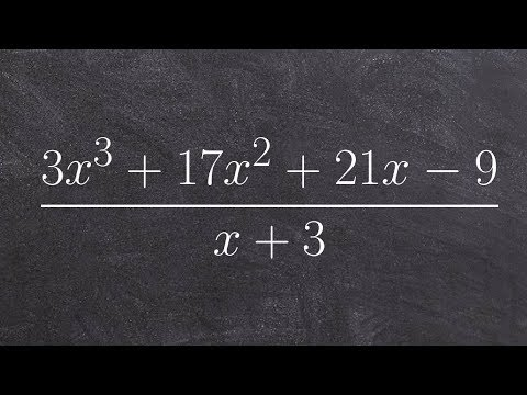 Best explanation for how to divide polynomials with long division