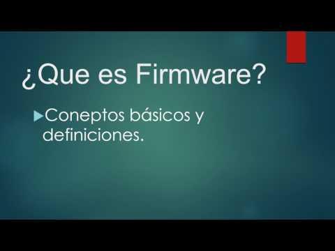 Que es Firmware definicion basica