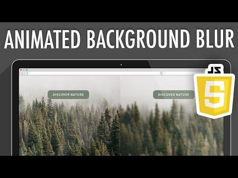 Animated Background Image Blur JavaScript | XO PIXEL