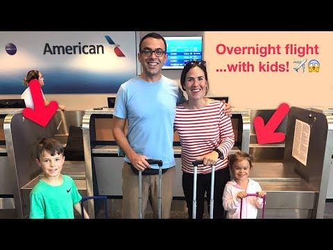 Overnight flight... with kids! ✈️ 👫 😱