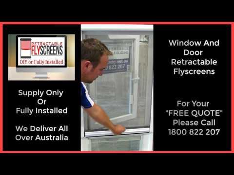 Retractable Fly Screens For Windows Osborne Park Perth Call 1800 822 207