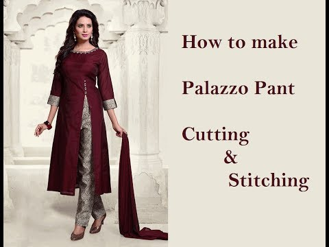 Palazzo pant | Cutting & Stitching- Part 1| stitching or sewing tutorials | tailoring ladies