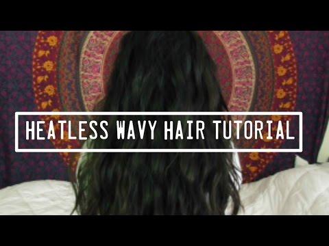 HEATLESS Wavy Hair | Tutorial