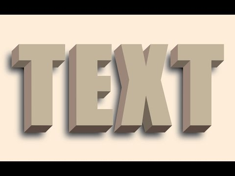 How to create 3D text without using the 3D tool in Illustrator