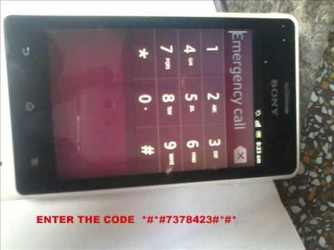 SONY XPERIA GO how to unlock forgot pattern lock