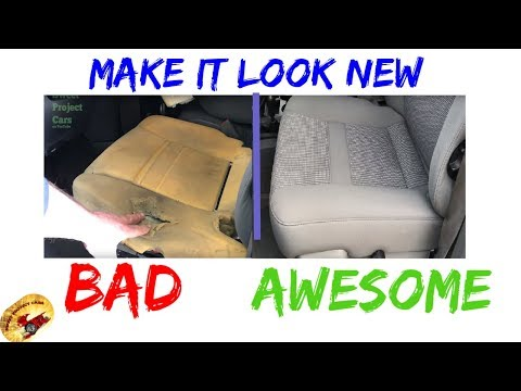 How To Replace or Repair Seat Upholstery