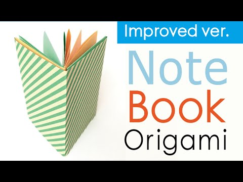 Easy☺︎ Origami Paper Note Book (Notebook) ✨Improved ver.【A4 paper】- Origami Kawaii 〔#123〕