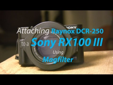 Attaching a Raynox DCR-250 to a Sony RX100 III using Magfilter Adapter