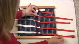 Montessori Practical Life Lesson - Tying Frame