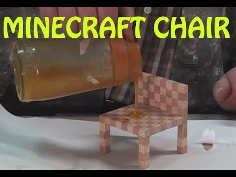 Minecraft Chair - How to make in real wood - Simple DIY