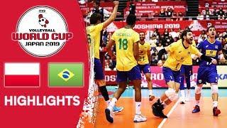 POLAND vs. BRAZIL - Highlights   Men's Volleyball World Cup 2019