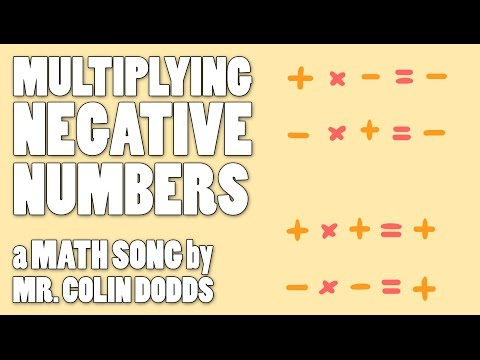 Colin Dodds - Multiplying Negative Numbers (Math Song)