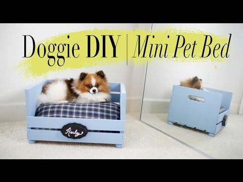 DIY Super Easy Mini Dog & Cat Bed | ANN LE