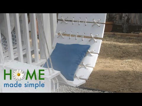 Upgrade Your Porch With This DIY Floating Plank Chair | Home Made Simple | Oprah Winfrey Network