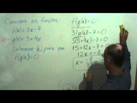 Função composta f(g(x)) e equação com frações