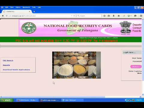 Check Online (NFSC) Telangana Ration Card Status