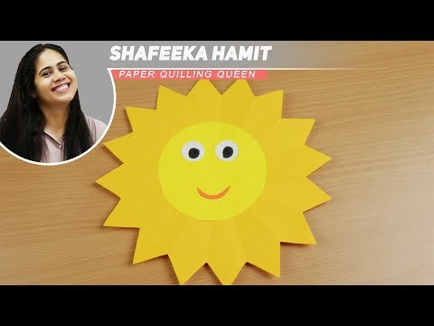 how to make a paper sun | step by step | kids special