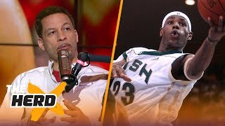Chris Broussard recalls early memories of covering LeBron James | NBA | THE HERD