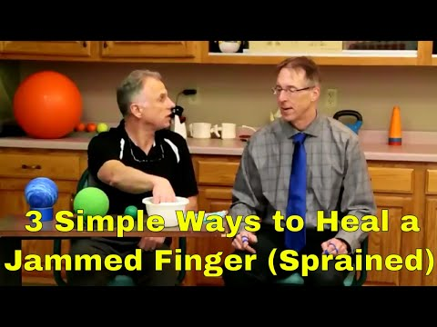 3 Simple Ways to Heal a Sprained Finger. (Jammed Finger)