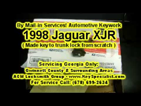 1998 Jaguar XJR - Lost Key Replacement Made From Scratch! By Mail-in Services.