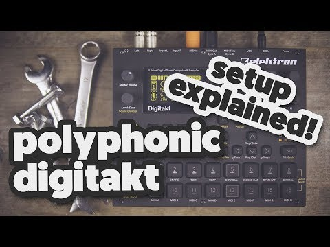 POLYPHONIC DIGITAKT, The setup explained! (with the RK-002)