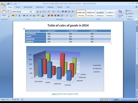 Microsoft word 2007 tutorial | How to create tables and charts