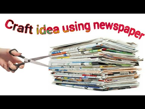 Newspaper craft - make beautiful gift box using newspaper | newspaper reuse craft