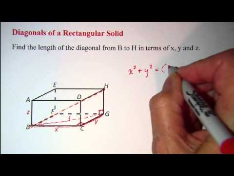 Diagonals of a Rectangular Solid
