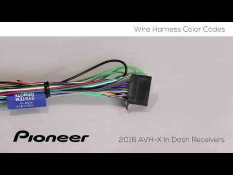 How To - Understanding Wire Harness Color Codes  for Pioneer AVH-X Models 2016