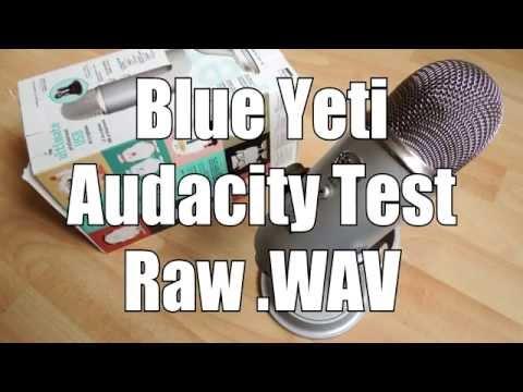 Blue Yeti USB Microphone Raw .WAV Audacity Polar Pattern Sound Test