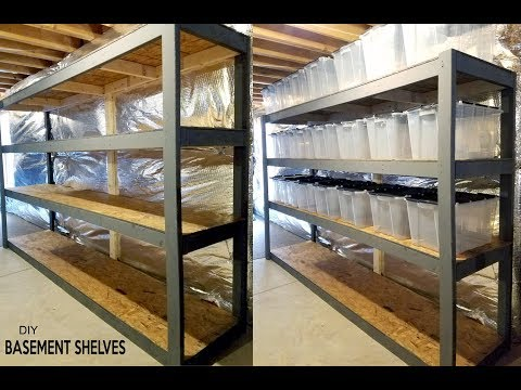 DIY - Basement Shelves  - Free standing