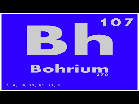 STUDY GUIDE: 107 Bohrium | Periodic Table of Elements
