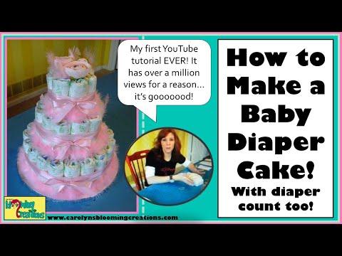 Carolyn Braden's TOIE: How to Make a Baby Diaper Cake!