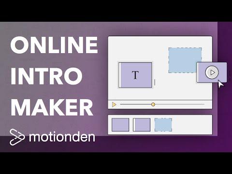 Online Intro Maker - Free Online Animated Video Maker | MotionDen