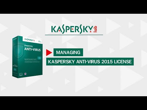 How to manage license Kaspersky AntiVirus 2015