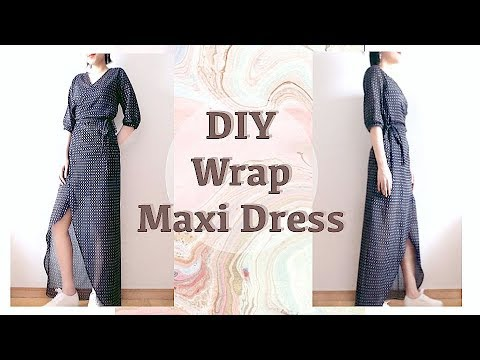 DIY Wrap Maxi Dress / 服作り / 옷만들기 / 手作教學 / Costura / Sewing Tutorialㅣmadebyaya